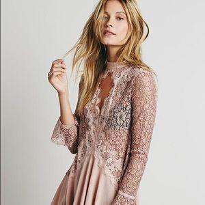 Free People Secret Origins Pieced Lace Tunic